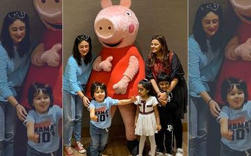 Mumma's Boy Taimur Gets All Excited As He Meets Peppa Pig; Kareena Kapoor Happily Poses For Pic