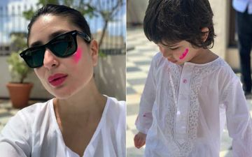 Dial Pink For Kareena Kapoor Khan And Taimur; Actress Shares Gorgeous Pics Of Herself And Tim Splashed With Gulaal