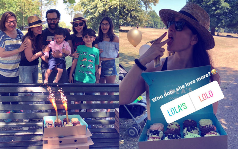 Taimur, Kareena Kapoor, Saif Ali Khan Celebrate Karisma's Birthday At A Park In London