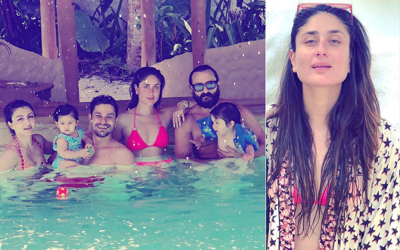 Kareena Kapoor Khan Stuns In Bikini While Pataudi Parivaar Enjoys Pool Time: Maldives Rendezvous