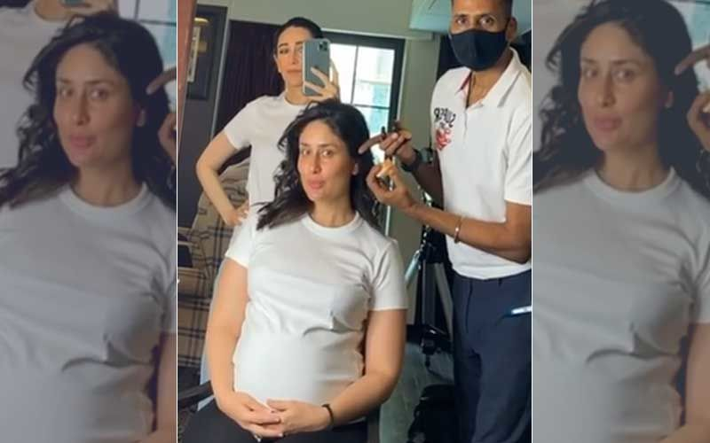 Pregnant Kareena Kapoor Khan Flaunts Her Growing Baby Bump As She Shoots With Sis Karisma Kapoor; Excited Aunt Shares A Video