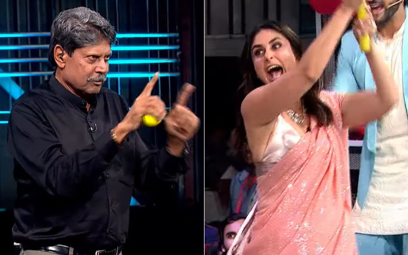 Kareena Kapoor Khan Plays Cricket With Kapil Dev Looking Sexy-As-Hell In A Manish Malhotra Saree – Video