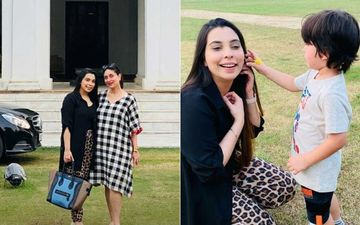 Taimur Ali Khan's Online Spanish Teacher Poses With Preggers Kareena Kapoor Khan During Her Visit To Pataudi Palace; TimTim Greets Her With A Lovely Flower