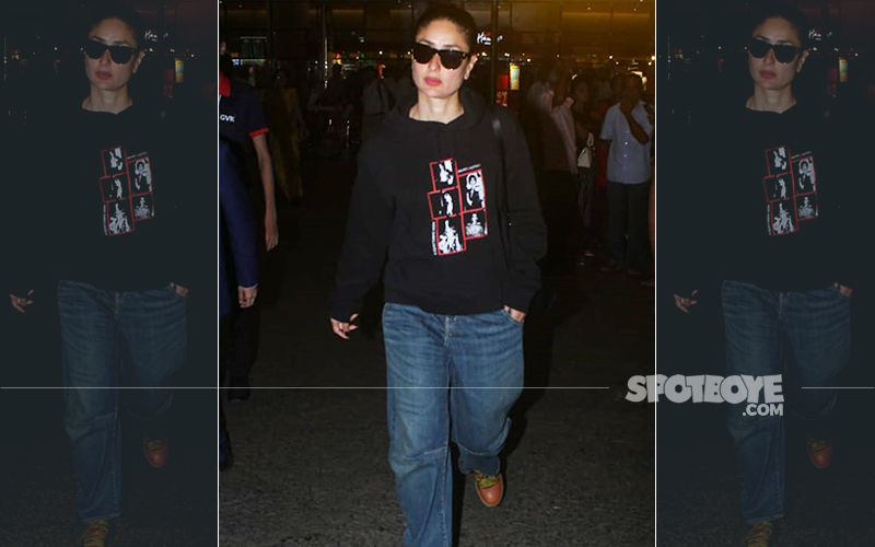 Kareena Kapoor Khan Is Back In Mumbai, Struts Out Of The Airport In A Baggy Black Sweatshirt