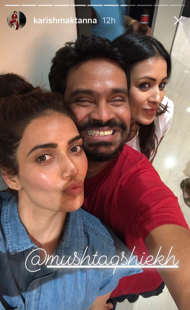 karishma tanna poses for a selfie