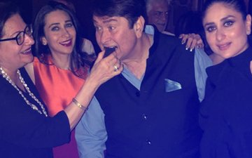INSIDE PICS: Kareena & Karisma Celebrate Daddy Randhir Kapoor's 71st Birthday