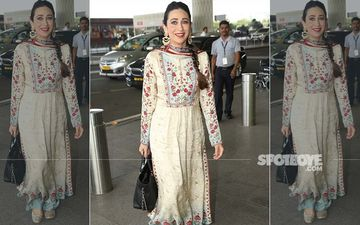 Karisma Kapoor Goes Desi At The Airport And We Say Lolo, It's Time To Bring On Your Ethnic Pieces