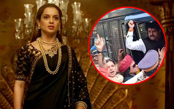 Karni Sena Protests Outside Kangana Ranaut's House; Actress Gets Police Protection – Watch Video