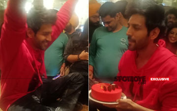 Kartik Aaryan Celebrates His Birthday With Media; Sits On The Table And Cuts A Scrumptious Cake- EXCLUSIVE PICS AND VIDEOS INSIDE