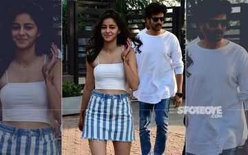 Ananya Panday Snapped With Co-Star Kartik Aaryan; Fans Wonder If It Was A Date Night Or Just A Birthday Dinner?