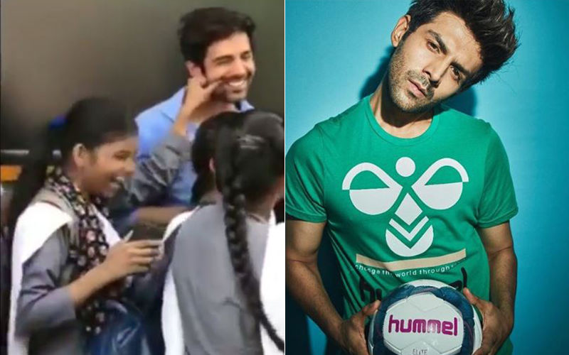 This Video Of Kartik Aaryan's Reaction To A Young Fan Pulling His Cheek Is Winning Hearts On The Internet