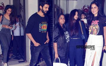 Kartik Aaryan Spends Time With Girlfriend; Katrina Kaif Dines With Arpita & Alvira – View Pics