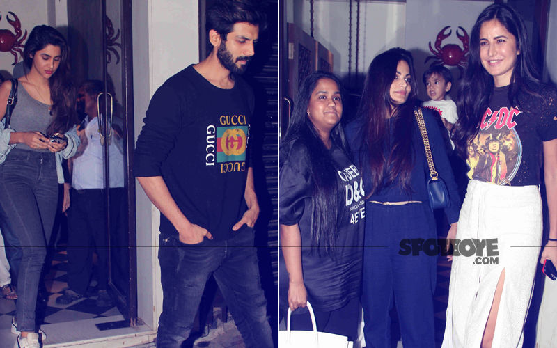 Kartik Aaryan Spends Time With Girlfriend; Katrina Kaif Dines With Arpita & Alvira – View Pics