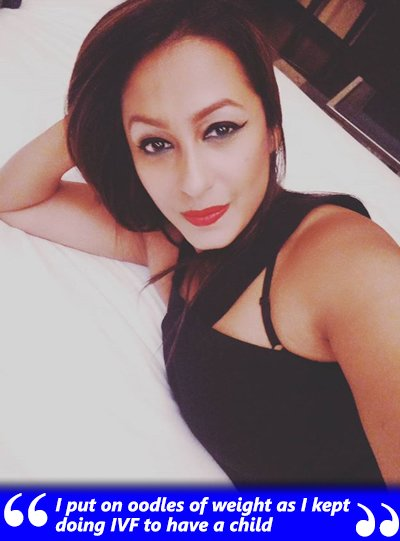 kashmera shah on gaining weight after ivf