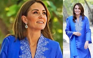 Kate Middleton Wears A Blue Salwaar-Kameez, Channels Desi Charm During Her Royal Visit To Pakistan - PICS