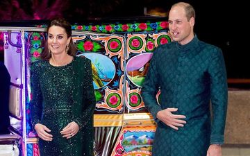 Kate Middleton And Prince William Travel By A Rickshaw During Their Pakistan Royal Visit