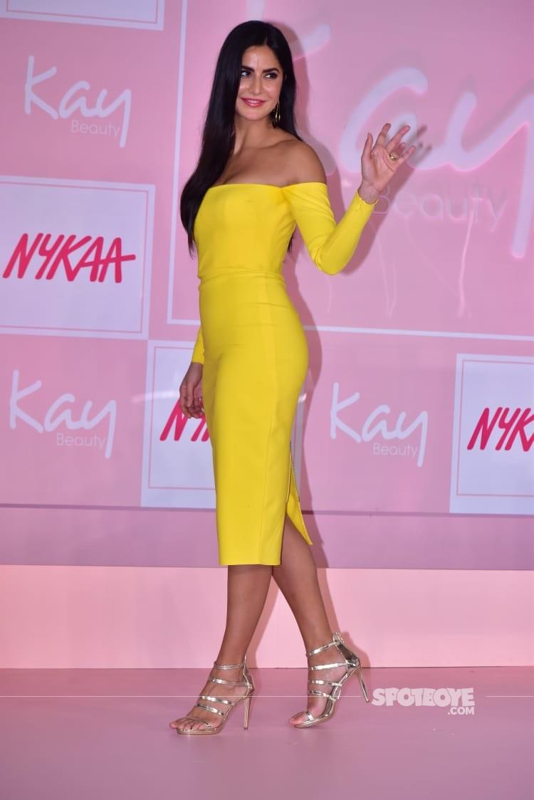 Katrina Kaif Flaunts A Fiesty Yellow Dress Ahead Of Diwali ...