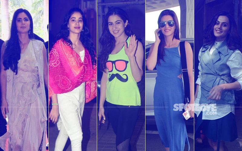 STUNNER OR BUMMER: Katrina Kaif, Janhvi Kapoor, Sara Ali Khan, Kriti Sanon Or Taapsee Pannu?