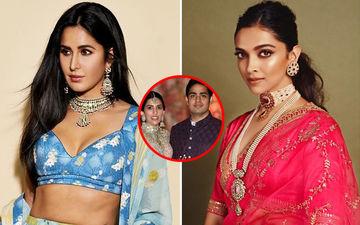 Katrina Kaif And Deepika Padukone Make Late-Night Starry Entry At Akash Ambani and Shloka Mehta's Wedding