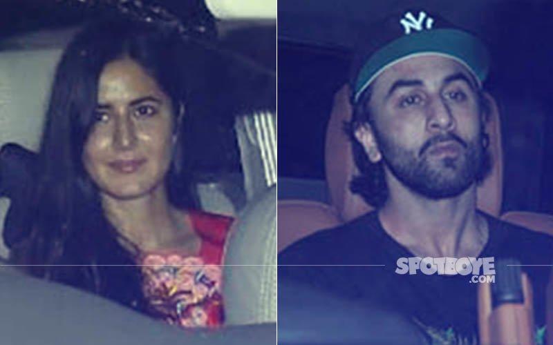 Katrina Kaif & Ranbir Kapoor Attend Jagga Jasoos Screening