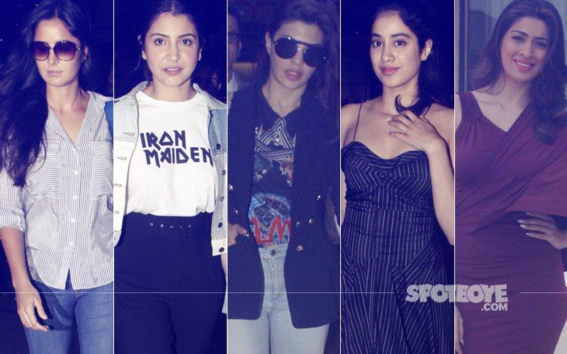 STUNNER OR BUMMER: Katrina Kaif, Anushka Sharma, Jacqueline Fernandez, Jhanvi Kapoor Or Raai Laxmi?