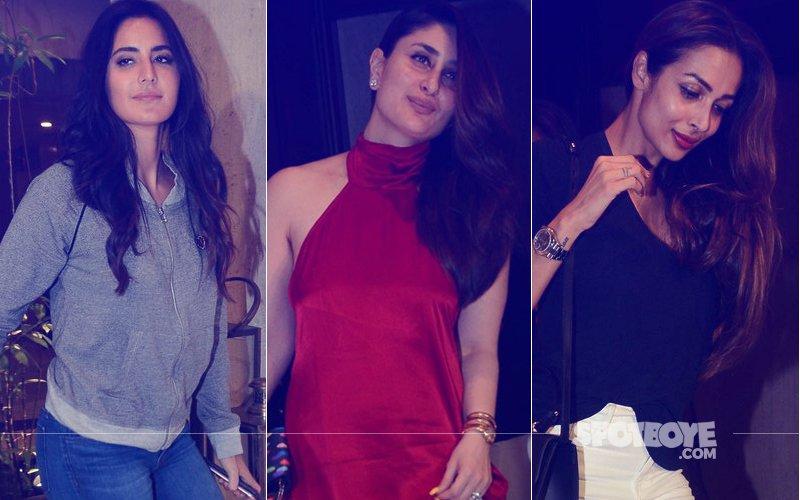 Katrina Kaif, Kareena Kapoor, Malaika Arora Let Their Hair Down At Manish Malhotra's Party