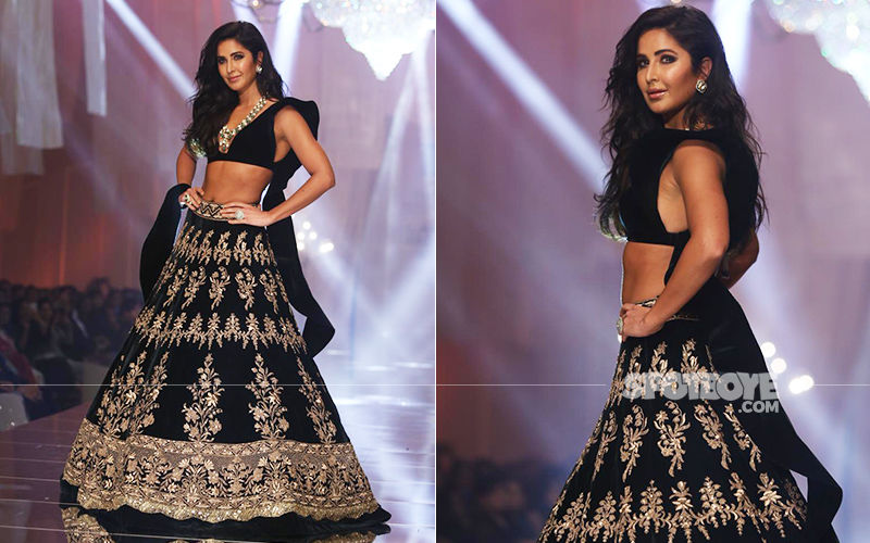 Katrina Kaif At Lakme Fashion Week 2019:  Manish Malhotra's Showstopper Looks Ravishing In A Black-And-Gold Lehenga