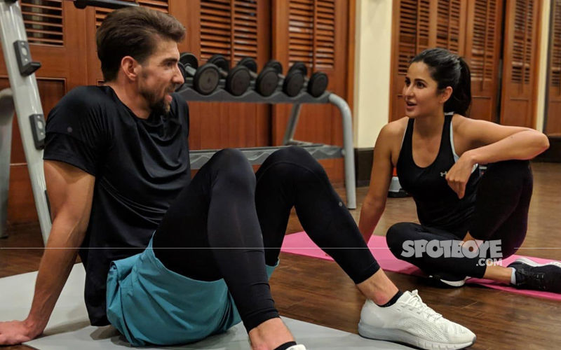 Katrina Kaif Preps With Olympic Gold Medallist, Michael Phelps