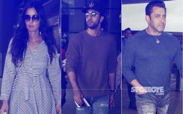Katrina Kaif, Ranbir Kapoor, Salman Khan Keep It Cool At The Airport