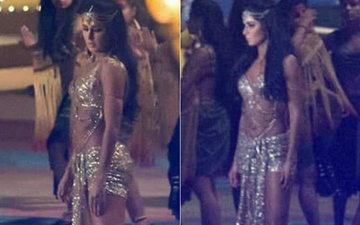 PICS: Katrina Kaif Glitters In Gold On-The-Sets Of Thugs Of Hindostan