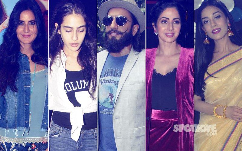 STUNNER OR BUMMER: Katrina Kaif, Sara Ali Khan, Ranveer Singh, Sridevi Or Amrita Rao?