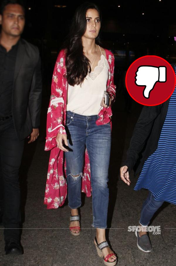 katrina kaif spotted at the mumbai airport