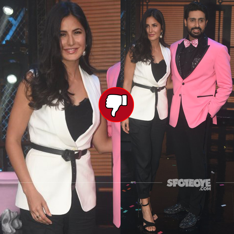 katrina kaif with abhishek bachchan at lip sing battle