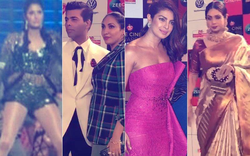 ZEE CINE AWARDS 2018: Katrina Kaif Sizzles On Stage, Karan Johar, Priyanka Chopra & Sridevi Dazzle On The Red Carpet