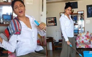 Kavita Kaushik Croons Bella Ciao From Money Heist While Sweeping The Floor Calls It 'Cleaning Heist'; Netizens Label Her 'Entertaining'