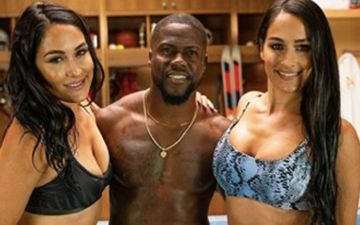 WWE Star Nikki Bella And Her Twin Make Kevin Hart Sit In A Cold Tub And It Is Cold As B**LS- VIDEO