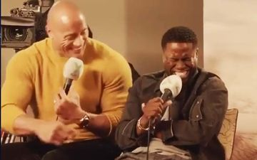 Kevin Hart Reveals Dwayne Johnson Can Tie His B**LS Without His Hands; Both Can't Stop Laughing- VIDEO