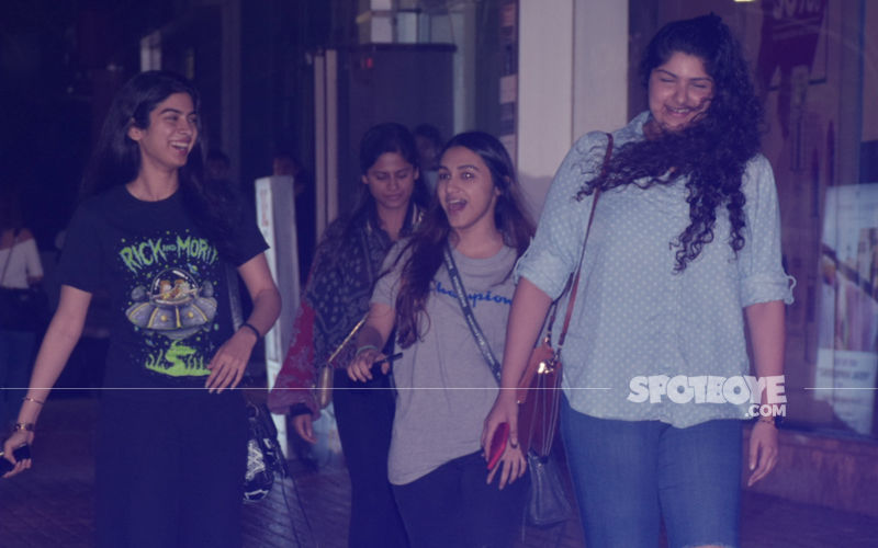 Cannot Stop Smiling: Sisters Khushi & Anshula Watch A Movie Together
