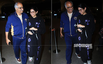 Khushi Kapoor Jets Off For Higher Studies, Boney Kapoor Hugs His Li'l One; Maheep Kapoor Jokes 'Don't Do Anything I Wouldn't Do'