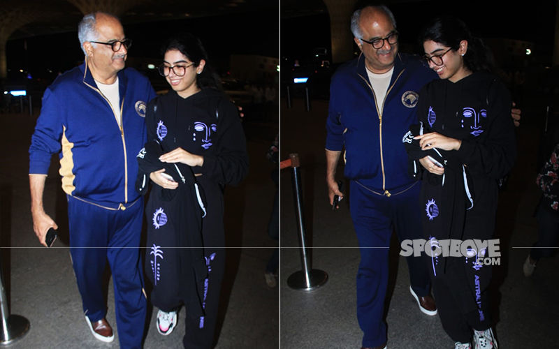Khushi Kapoor Jets Off For Higher Studies, Boney Kapoor Hugs His Li'l One; Maheep Kapoor Jokes 'Don't Do Anything I Wouldn't Do'