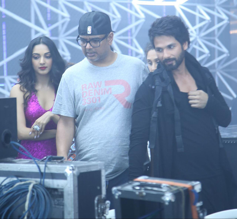 kiara advani and shahid kapoor shooting for the song