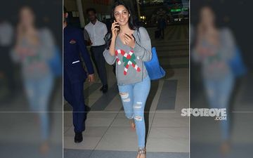 Kiara Advani Is Reeling With Christmas FOMO; Her Candy Cane Jersey Is Proof