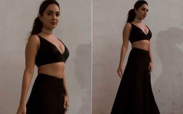 Kiara Advani Looks Exquisite In A Black Embellished Bralette And Lehenga; Its Price Will Leave A Dent In Your Wallet
