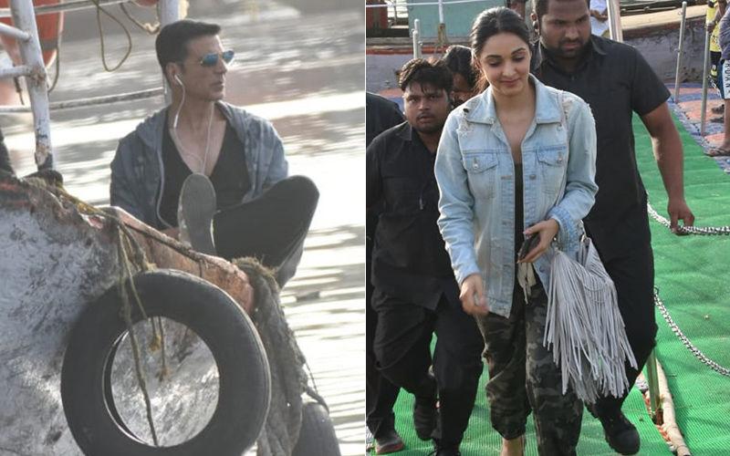 Akshay Kumar And Kiara Advani Take A Ride On The Madh Jetty As They Shoot For Their Upcoming Film Laxmmi Bomb