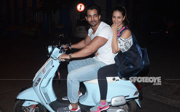 Kim Sharma And Harshvardhan Rane Enjoy A Bike Ride