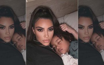 Kim Kardashian Shares An Endearing Picture With Her Eldest Son Saint; Calls Him Her 'Forever Snuggle Bug'