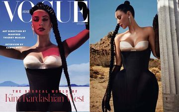 "Kim Kardashian On Vogue Arabia Cover: Squeezes Into The World's Tightest Corset That Had Made Her ""Cry In Pain"" At MET Gala 2019"