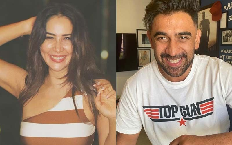Amit Sadh Enjoys Dinner With Kim Sharma And Her Family In Goa; What's Cooking Between The Two?