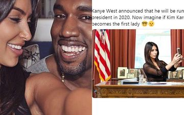 Kanye West Announces He's Running For US President; Memes Imagining Kim Kardashian As The 'First Lady' Take Over Twitter