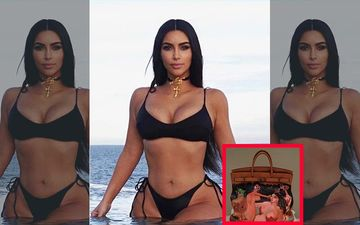Kim Kardashian Recycles Her Tote Bag Customized With A Nude Painting, Gifted By Kanye West In 2013-PIC INSIDE
